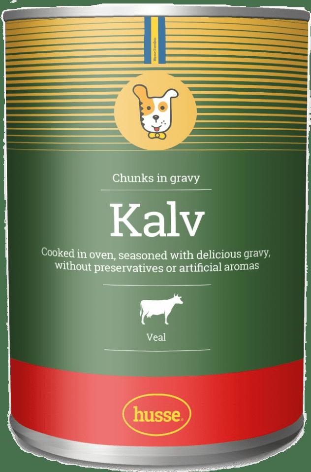 Купить консервы с кусочками телятины для собак Kalv, 1275 гр. в магазине Makpets