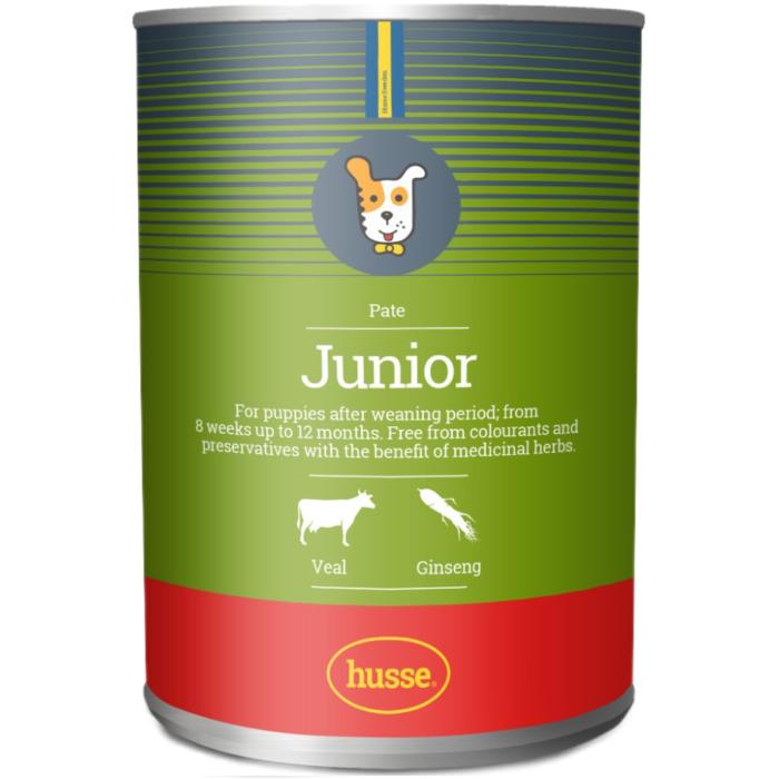 Купить консервы Husse JUNIOR PATE для щенков, 400 гр. в магазине Makpets