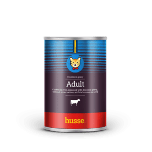 Влажный корм Husse Adult Beef, chunks: 415 гр.