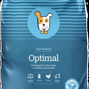 Размеры гранул корма для собак HUSSE OPTIMAL 15 кг. в магазине Makpets