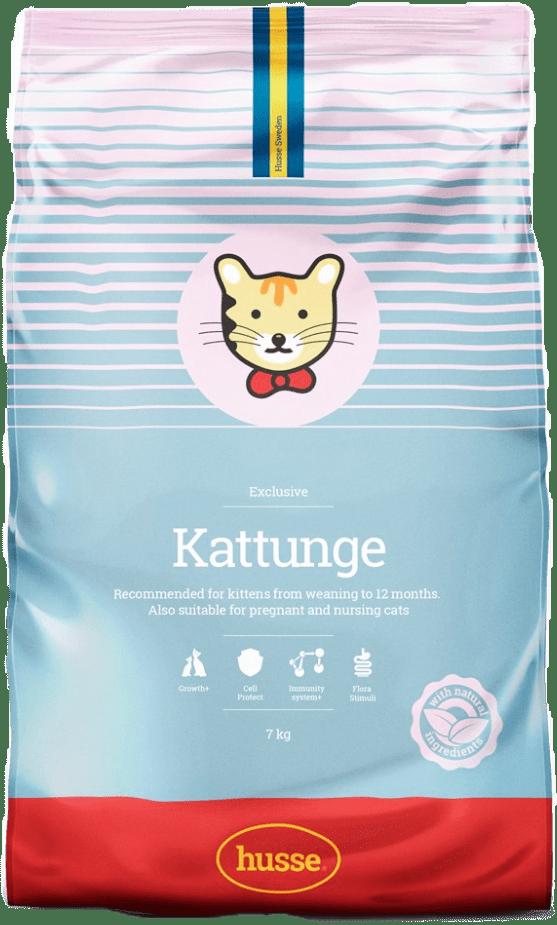 Купить корм для кошек HUSSE EXCLUSIVE KATTUNGE 7 кг. в магазине Makpets