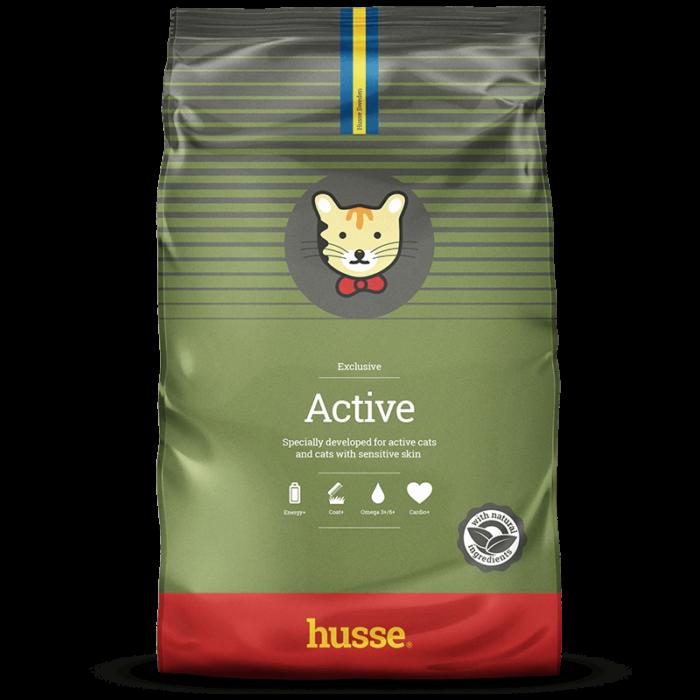 Купить корм для кошек HUSSE EXCLUSIVE ACTIV в магазине Makpets