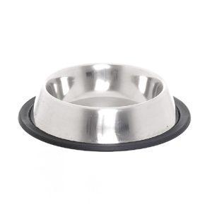 Миска металлическая нескользящая VМ-2500 (B), 470 мл