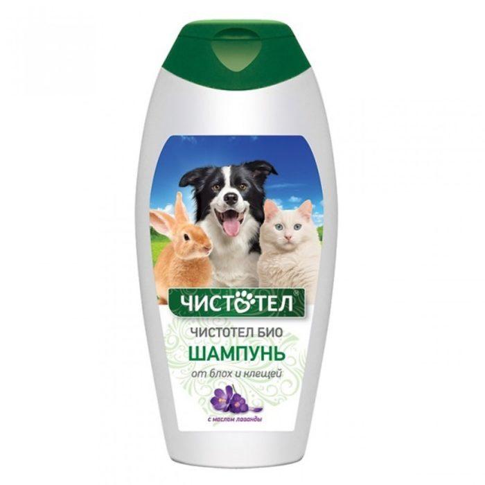 Шампунь от клещей/блох для кошек и собак Чистотел БИО, 180 мл
