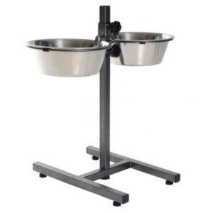Подставка с металлическими мисками Double Diner 2*2,8 л