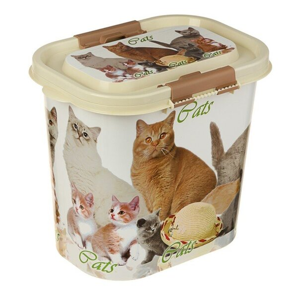 Контейнер для корма Cats с крышкой, 10л