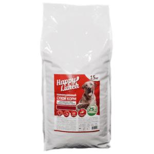 Купить корм для собак Happy lunch/Хэппи ланч со вкусом говядины, 15 кг., в магазине Makpets