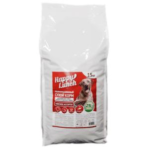 Купить корм для собак Happy lunch/Хэппи ланч со вкусом мясного ассорти, 15 кг., в магазине Makpets