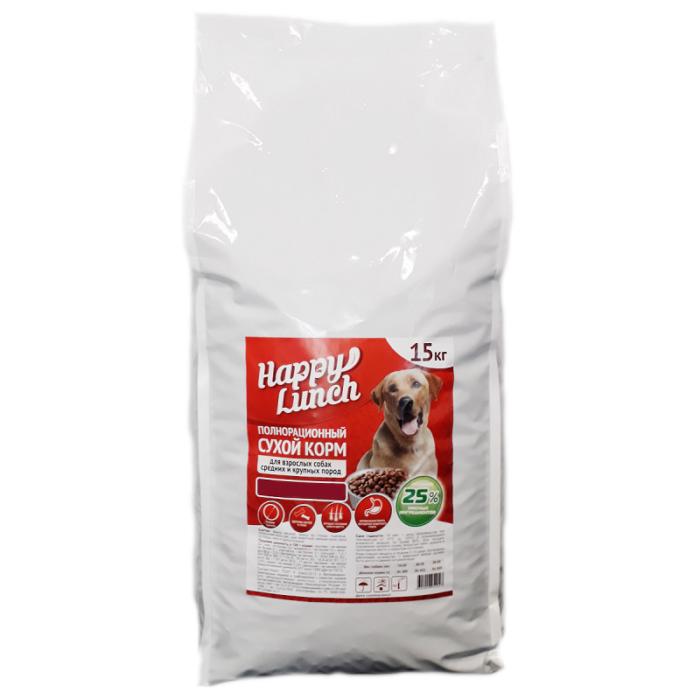Купить корм для собак Happy lunch/Хэппи ланч со вкусом курицы, 15 кг., в магазине Makpets