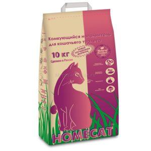 Наполнитель для кошачьего туалета комкующийся HOMECAT, 10 кг