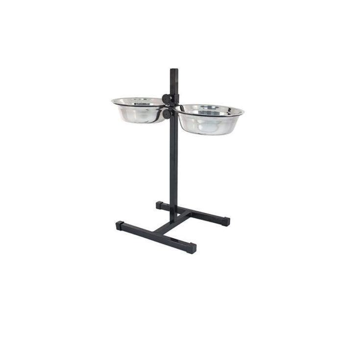 Подставка с металлическими мисками Double Diner, VM-2702(C)