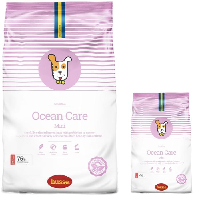 Купить корм для собак HUSSE OCEAN CARE Mini 2 кг. промо набор в магазине Makpets